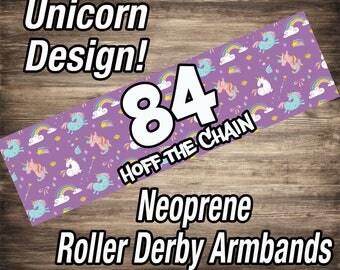 Roller Derby Armbands - Unicorns