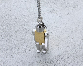 Robot Layering Necklace