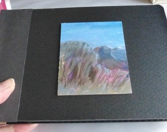 The Tiny Mountain Watercolour Book - Artist Book - 10 Original Paintings - Watercolour Landscape Book - ElizabethAFox - Artists Book