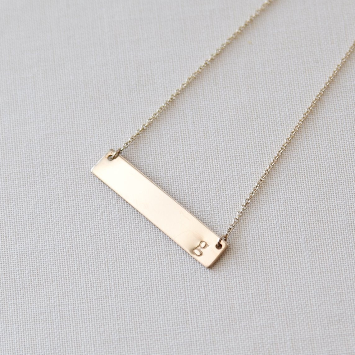 gold bar necklace bar necklace initial bar necklace initial