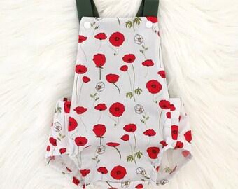 Poppies Shortie Romper