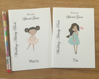 A6 Personalised Childrens Wedding Activity Colouring Book,Pack Favour,Wedding Guest