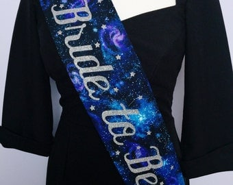 Alternative hen sash, star bride to be sash, galaxy hen party sash, star bachelorette sash,