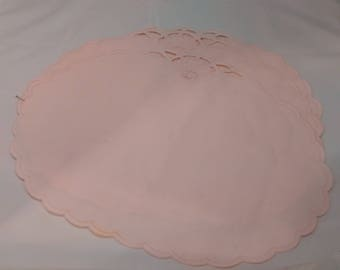Vintage Pink Placemats set of 3