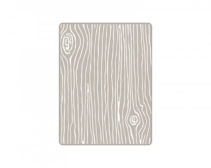 New! Sizzix Textured Impressions Embossing Folder - Woodgrain #4 by Lori Whitlock 661925