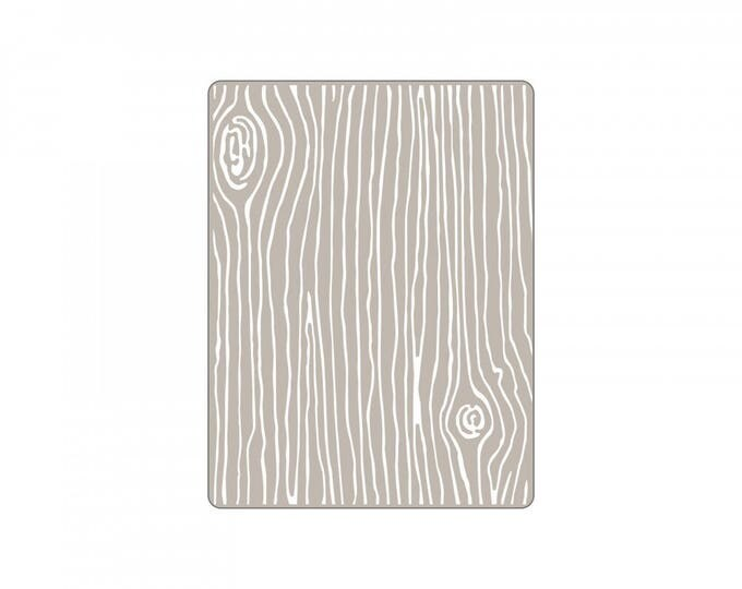 New! Sizzix Textured Impressions Embossing Folder - Woodgrain #4 by Lori Whitlock 661925