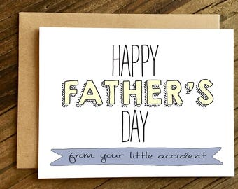 Father's Day Card - Fathers Day Card - Card for Dad - Accident.