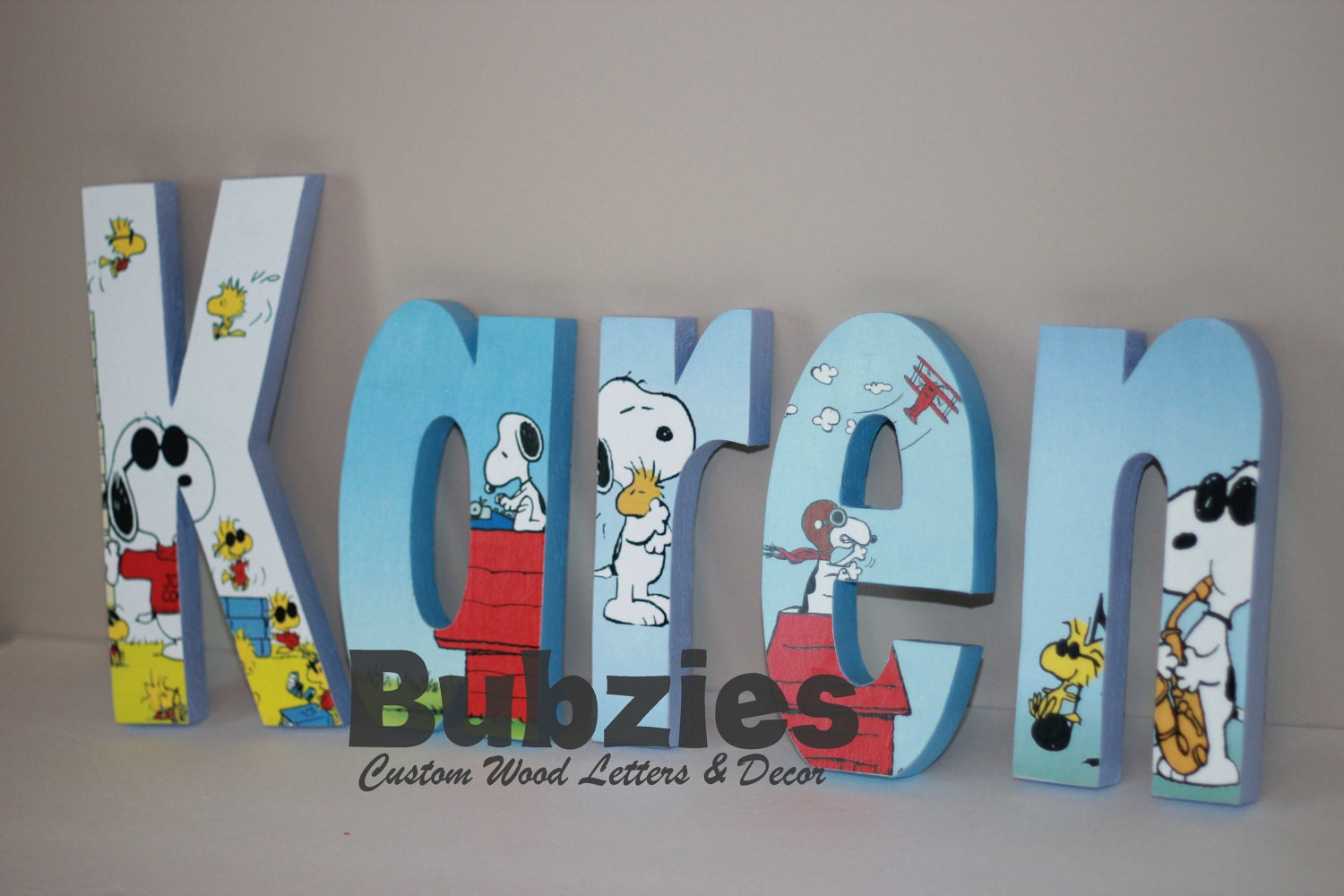 custom wood letters snoopy and woodstock free standing custom wood letters 21279