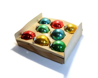 "2.5"" Shiny Brite Glass Christmas Ornament, Boxed, Multi-color, Qty 8"
