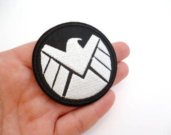 """Round Embroidered Thermo-Adhesive Patch_PAM33534/16738_Patches __emblem_of 60 mm / 2,36""""_ pack 1 pcs"""
