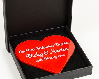 Our First Valentines Together-  Personalised Keepsake Gift