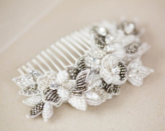 Antique Silver Bridal Hair Comb Style H50 ( Ready to Ship)