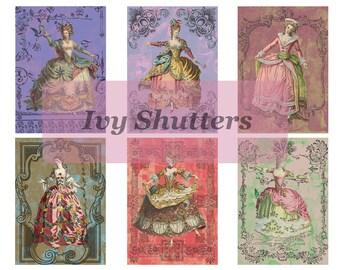 Printable Ephemera sheet - Vintage French Fashion