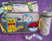 SALE Super Cute Pokmon GO! Pikachu Baby Mummy Diaper Nappy Changing Bag Toddler Pacifier Dummy