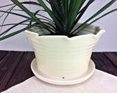 White Ceramic Flower Pot,...