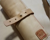 Leather Make-up Roll Case (hand stitched)