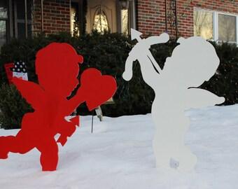 Valentines Cupid Silhouettes