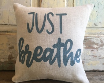 Support Team Linky - Just Breathe- Cystic Fibrosis Benefit Pillow - FREE SHIPPING
