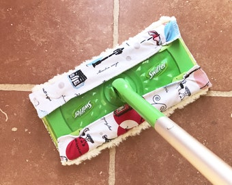 Reusable Swiffer Pads Swiffer Dry Pad Refill Swiffer Wet Mop Refill Pad --- Paris --- Pack of TWO