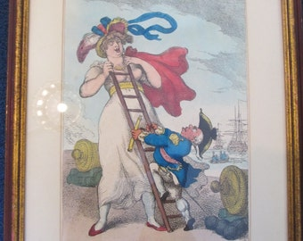 Thomas Rowlandson Original hand colored Etching from 1811!!!