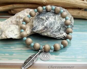 Bohemian bracelet wood spring