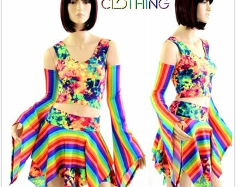 Pixie Day-Tripper Set in Rainbow & Acid Splash 154379