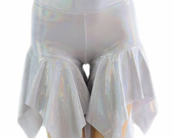 Midrise Pixie Shorts in Flashbulb Holographic - 154522