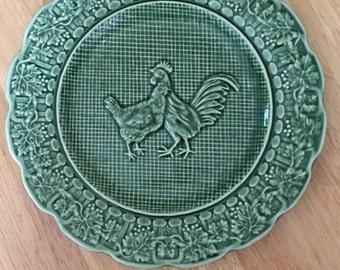 Bordallo Pinheiro Farm Rooster Plate