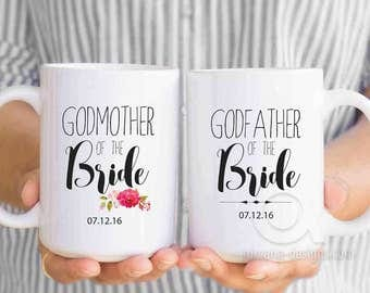 godmother of the bride gift, personalized mugs, godfather of the bride gifts ,wedding gifts from groom, gift from bride, bridal shower MU49