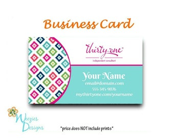 Thirty-One Candy Corners Business Card, Direct Sales Marketing, Independant Consultant, Directs Sales Business Card