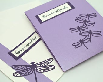 Card for a Special Day with Bath and Body Gift Enclosed- Bath Salt Card Insert- One of a Kind