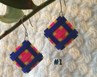 Bohemian earrings Peruvian square
