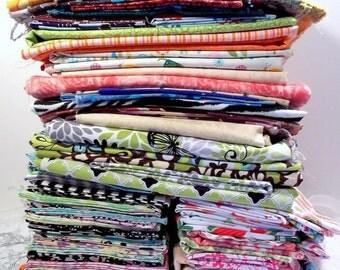 HUGE SALE FABRIC Scraps Destash Grab Bags Fabric Scrap Remnants Bundle Designer 100% Cotton Fabric Quilting Fabric By the Pound Fabric