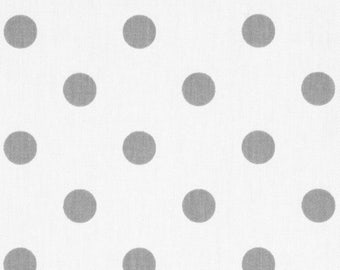 Grey and White Polka Dot Fabric - Preimer Prints Polka Dots Storm Grey - Fabric by the 1/2 yard