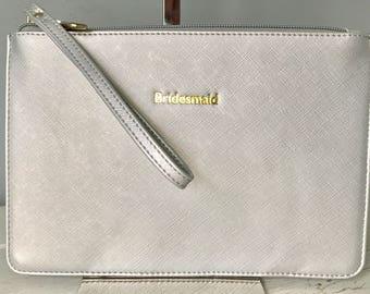Bridesmaid Bag Bridesmaid Clutch Bag Silver Bride Bag Bridal Clutch Bride Clutch Wedding Bag Wedding Pouch