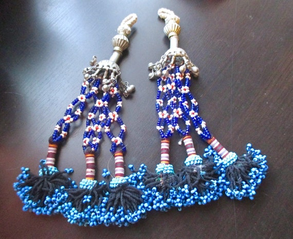 Beaded tassels from Central Asia