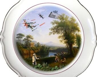 Solo Landscape - Stormtrooper - Han Solo - Star Wars - Vintage Porcelain Plate - #0485