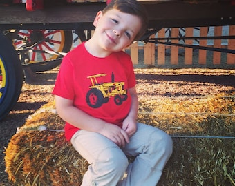 KIDS Tractor T-shirt, Size XS-XL