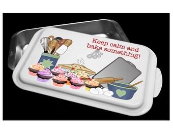 Custom Cake Pan- Keep Calm and Bake