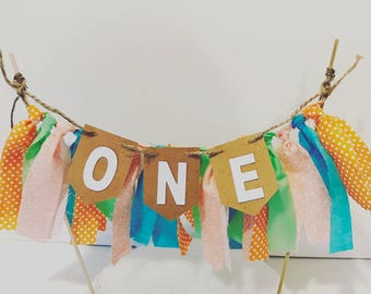 Ready to ship Fabric cake bunting ONE