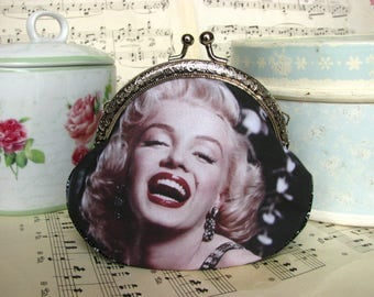 Coin purse clutch with Marilyn Monroe