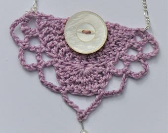 Purple Crochet Neacklace