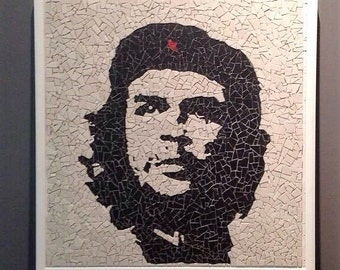 Che Guevara Portrait Mosaic - Hand Made