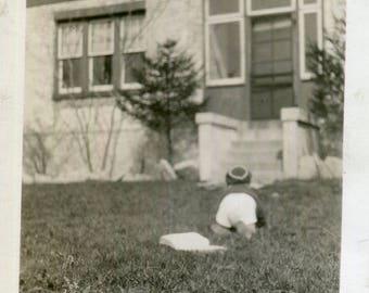 Vintage Photo..Voltaire?  No Thanks, 1930's Original Found Photo, Vernacular Photography