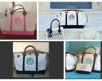 Monogram Weekender Canvas Weekender Bag Mongrammed Weekender Bag Monogrammed Tote Overnight Bag Kaileysmonogram