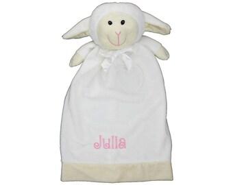 Baby Lamb blankey, Personalized lovey blanket, Stuffed Lamb Animal Blankey, Monogram  Blankey, Birth Announcement Blankey, Memorial Plushie