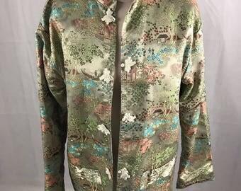 Rayon 1980's Chinese Jacket