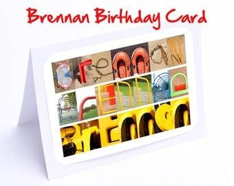Brennan Personalised Birthday Card