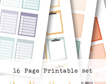 Inkwell Press Planner & other planners Large boxes Printable Sticker Kit - Instant Download