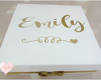 """Personalised """"will you be my bridesmaid?"""" memory box, wedding day..can be maid of honour"""